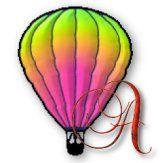 Alfabeto de globos aeroestáticos de colores.
